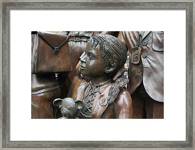 Children In The War Framed Print