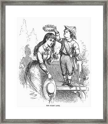 Children: Love Framed Print by Granger