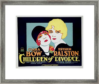 Children Of Divorce, Clara Bow, Esther Framed Print