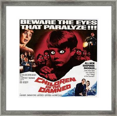 Children Of The Damned, 1963 Framed Print