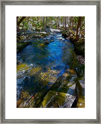 Childs Brook Wz 26 Framed Print