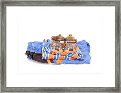 Child's Clothing Framed Print by Tom Gowanlock