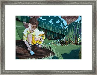 Framed Print featuring the painting Child's Garden by Jan Swaren