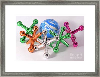 Child's Play Jacks Framed Print by Laura Mountainspring