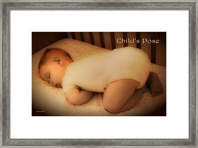 Child's Pose Framed Print
