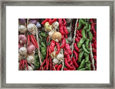 Chilis Framed Print