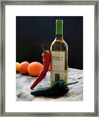 Chilis Wine And Citrus Framed Print