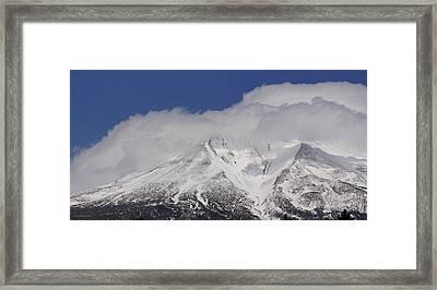 Chill Winds Across Shasta's Peak Framed Print