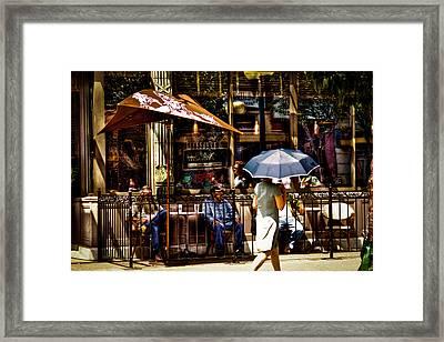 Chillin At Starbucks Framed Print