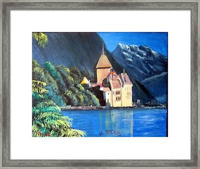 Chillon Castle Framed Print by M Bhatt