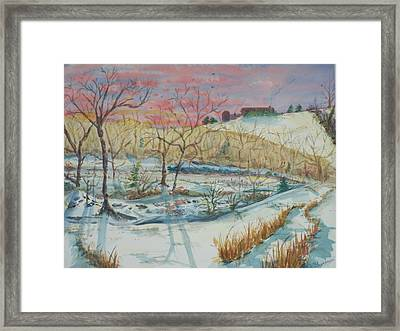 Chilly Morning Framed Print