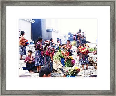 Chimaltenango Flower Sellers Framed Print by Daniel Morgan