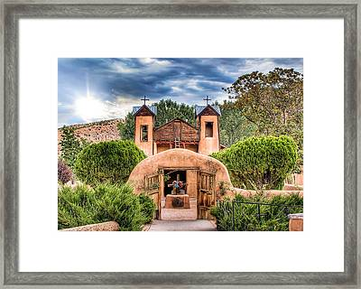 Framed Print featuring the photograph Chimayo Church by Anna Rumiantseva