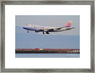 China Airlines Cargo Jet Airplane At San Francisco International Airport Sfo . 7d12299 Framed Print by Wingsdomain Art and Photography