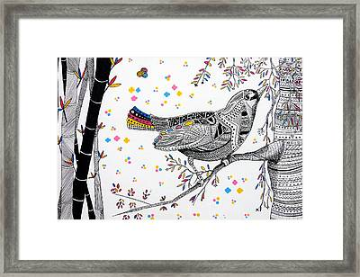 China Bird Framed Print by JF Mondello
