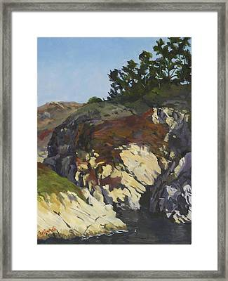 China Cove Cliffs Framed Print by Marian Fortunati