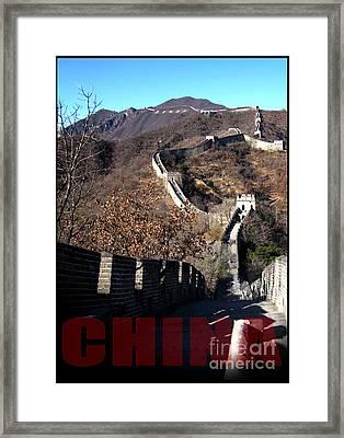 China Framed Print by Jose Luis Reyes