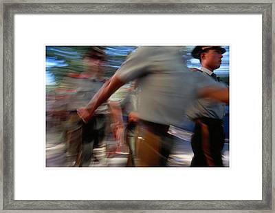 China On The March Framed Print by Anthony Silver
