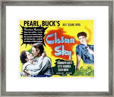 China Sky, Randolph Scott, Ruth Framed Print