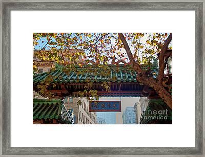 China Town San Francisco Framed Print by Loriannah Hespe
