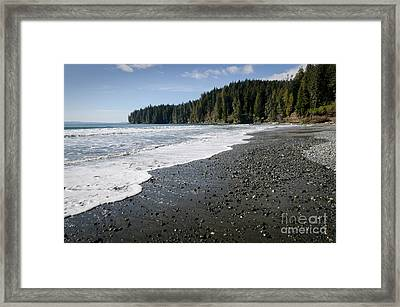 China Wave China Beach Juan De Fuca Provincial Park Vancouver Island Bc Framed Print by Andy Smy