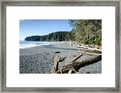China Wide China Beach Juan De Fuca Provincial Park Vancouver Island Bc Canada Framed Print by Andy Smy