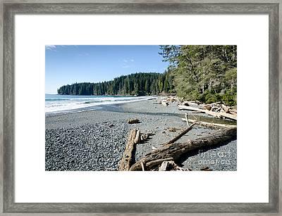 China Wide China Beach Juan De Fuca Provincial Park Vancouver Island Bc Canada Framed Print