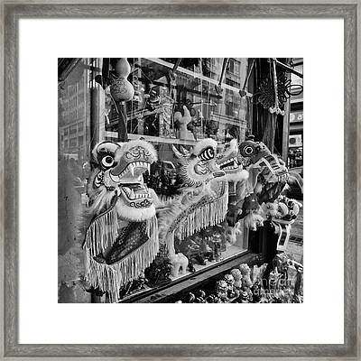 Chinatown Dragons Nyc Framed Print by John Farnan