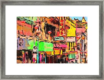 Chinatown In Abstract Framed Print by Wingsdomain Art and Photography