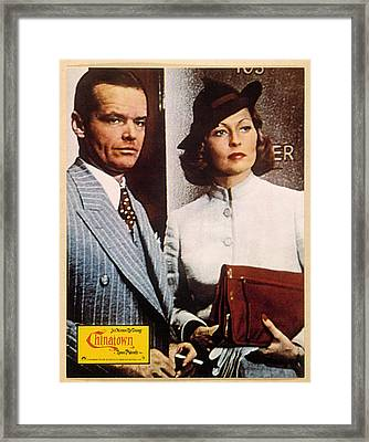 Chinatown, Jack Nicholson, Faye Framed Print by Everett