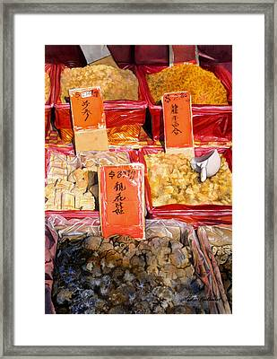 Chinatown Market Framed Print by Leslie Redhead