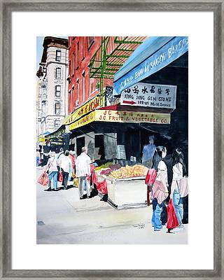 Framed Print featuring the painting Chinatown Number One by Tom Riggs