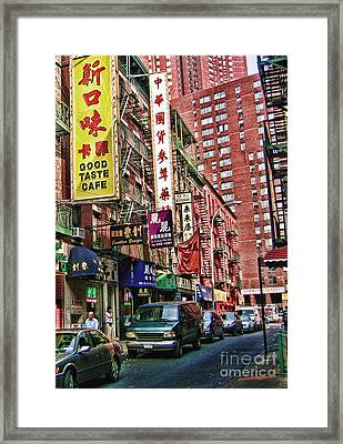 Chinatown Nyc 2 Framed Print by Anne Ferguson