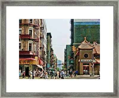 Chinatown-nyc Framed Print by Anne Ferguson