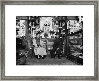 Chinatown, Receiving New Years Guests Framed Print by Everett