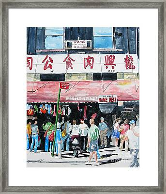 Framed Print featuring the painting Chinatown Two by Tom Riggs