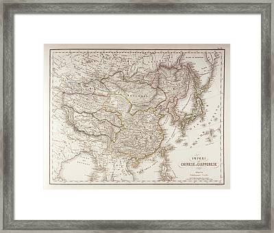 Chinese And Japanese Empires Framed Print by Fototeca Storica Nazionale