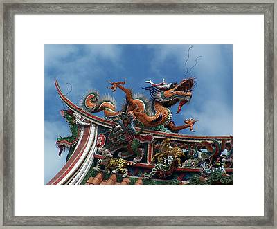 Chinese Dragon Framed Print by Steve Huang