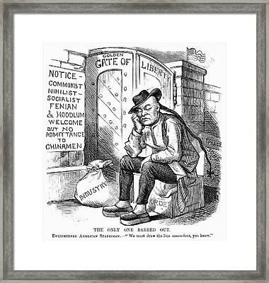 Chinese Exclusion Act, 1882 Framed Print