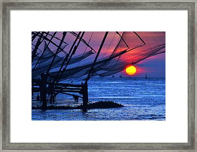 Chinese Fishing Nets Framed Print
