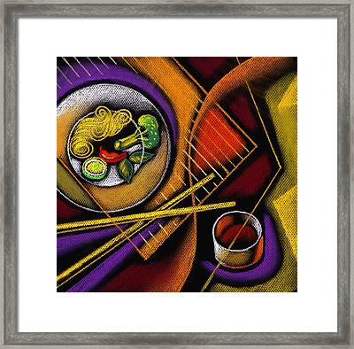 Chinese Food Framed Print by Leon Zernitsky
