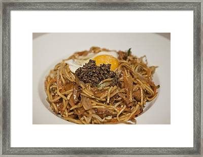 Chinese Fried Noodles Framed Print by Miguel Pereira