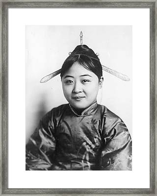 Chinese Girl Framed Print by General Photographic Agency