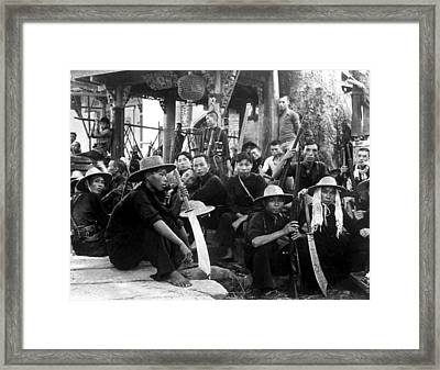 Chinese Guerillas, Who Are Fighting Framed Print by Everett