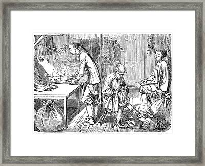 Chinese Immigrants, 1855 Framed Print by Granger