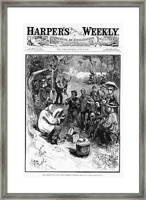Chinese Immigrants, Wearing Framed Print by Everett