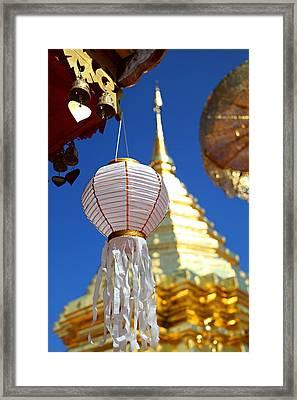 Chinese Lantern At Wat Phrathat Doi Suthep Framed Print by Metro DC Photography