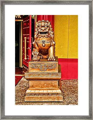 Chinese Lion Dragon-chinatown-nyc Framed Print by Anne Ferguson