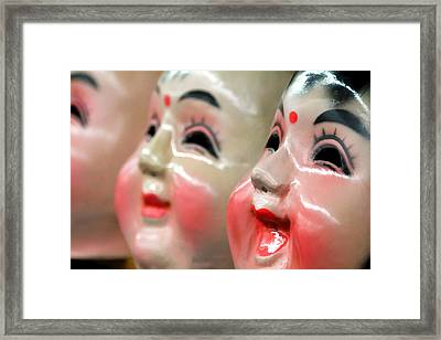 Chinese Masks Framed Print