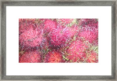 Chinese Plums  Framed Print by Paul SEQUENCE Ferguson             sequence dot net